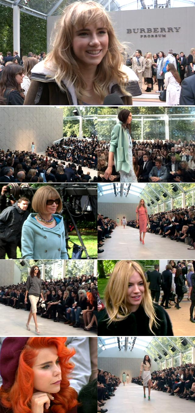 Top Billing features Burberry 2013 show at London Fashion Week